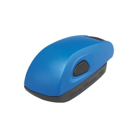 sello stamp mouse azul