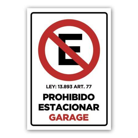 cartel no estacionar